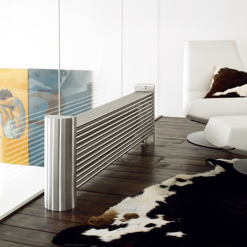 Aeon Ottoman 500 x 1470 -27 tubes  Brushed Stainless Steel